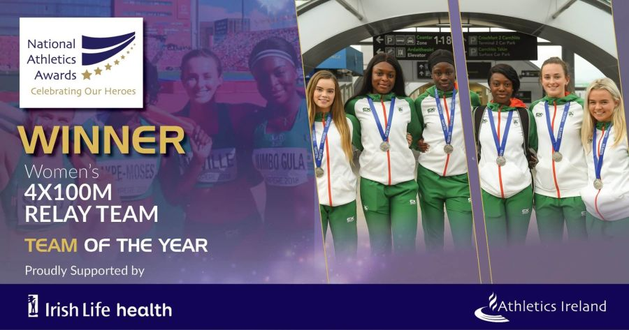 womens 400m relay team national athletics awards 2018