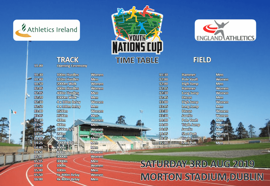 youth nations cup timetable dublin august 2019