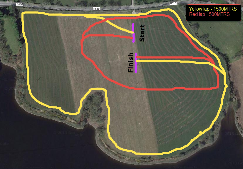 Cork AAI County Novice XC 2014 - Course Map