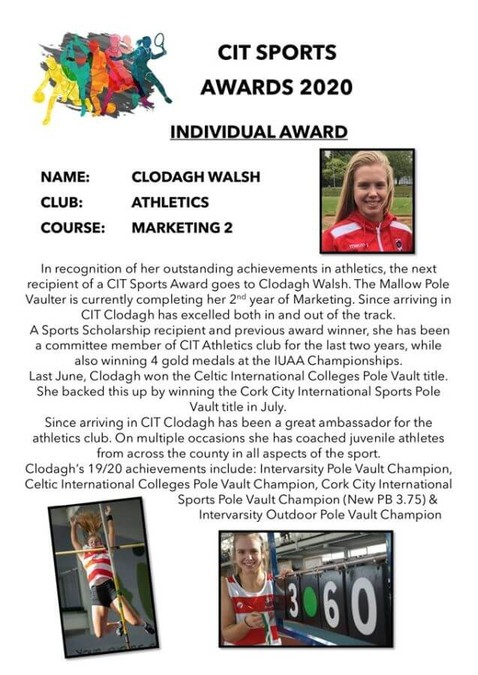 cit athletics clodagh walsh 2020 a