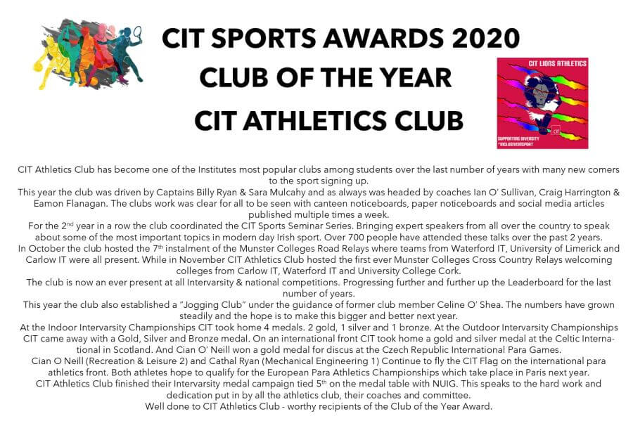 cit athletics club of the year 2020 c