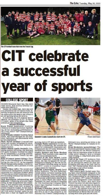 cit sports awards echolive tuesday may 26th 2020