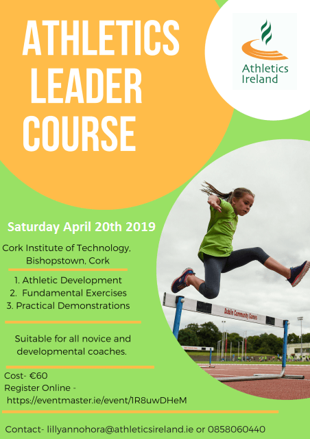 athletics leader course cit april 2019s
