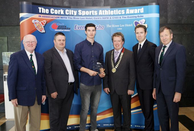 sam healy awarded cork city sports athlete of the month for july 2015