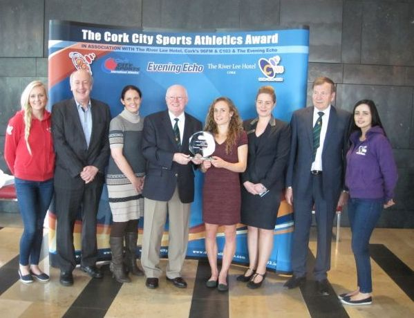 Group with Michelle Finn - Cork City Sports Athlete of the Month - June 2015