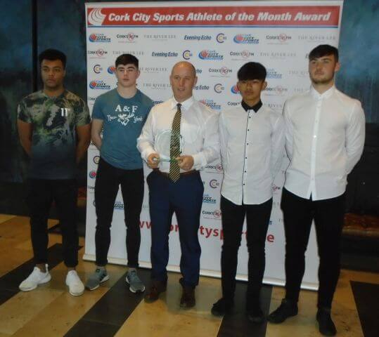 leevale ac junior mens team cork city sports athletes of the month september 2018 2