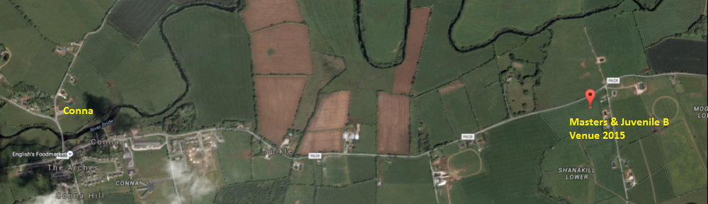 Location of Conna Cross Country Masters & Juvenile B Cross Country Championships 2015
