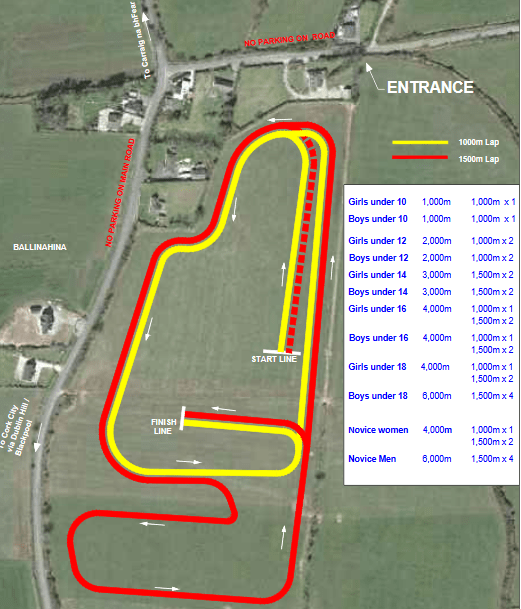 Munster Novice U23 Juvenile Even Age Cross Country Course Map 2016 min