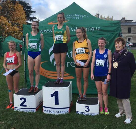 senior women podium autumn xc 2017