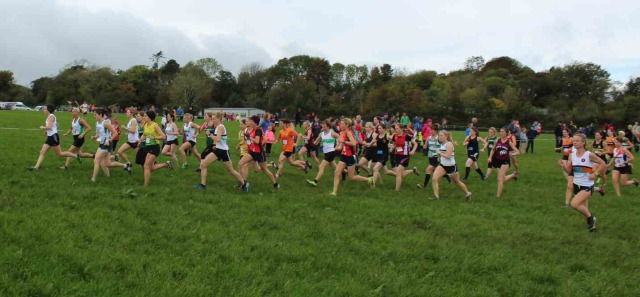 Start of Cork Athletics County Novice Women Cross Country Championship 2017