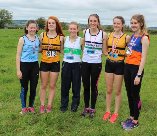 first six junior women cork junior womens cross country championship 2017
