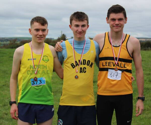 first three junior men cork junior mens cross country championship 2017
