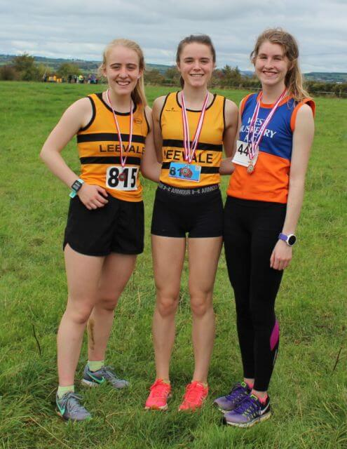 first three junior women cork junior womens cross country championship 2017