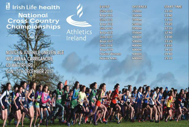 athletics ireland national novice cross country timetable 2017