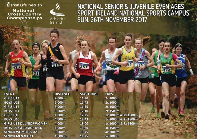 athletics ireland national senior cross country championship timetable 171126 2017r