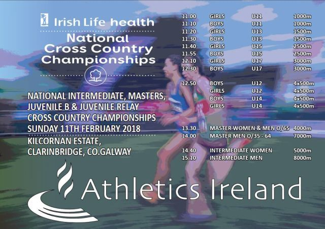 athletics ireland national intermediate and masters cross country championship 2018