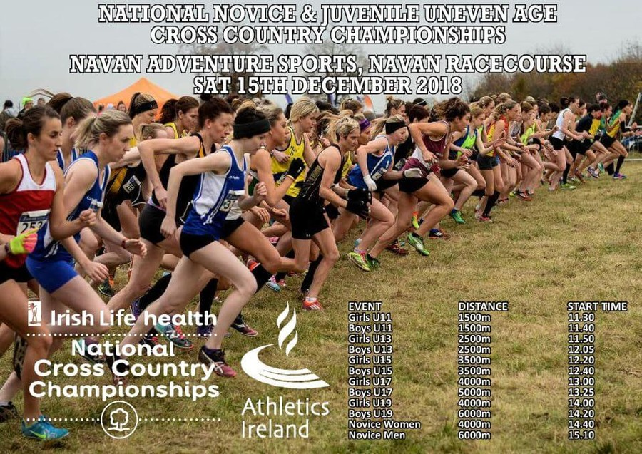 athletics ireland national novice and uneven age cross country timetable 2018