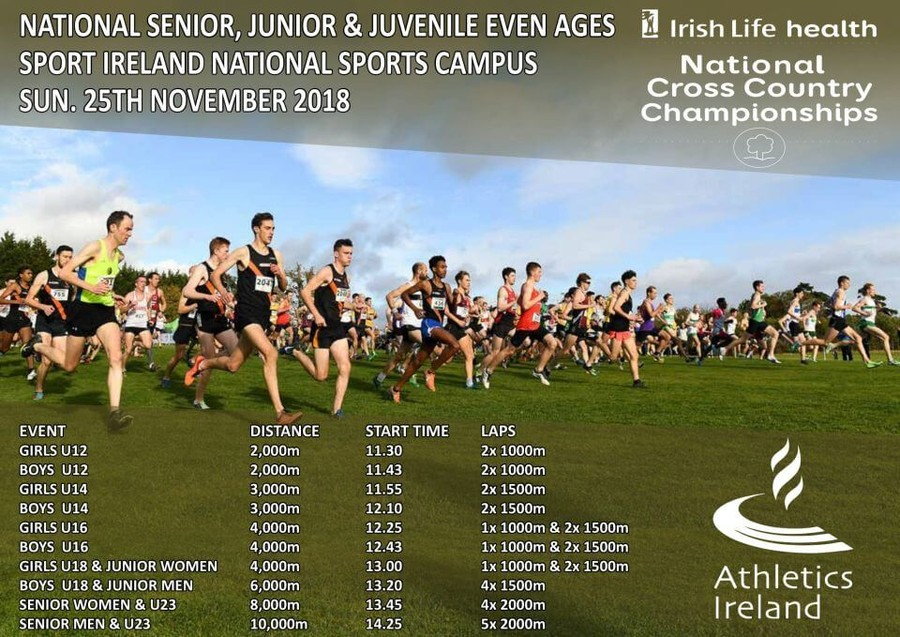 athletics ireland national senior cross country championship timetable 2018a