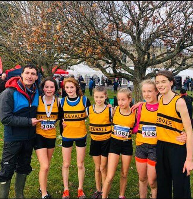 leevale ac girls under 14 national xc champions 2018