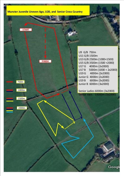 course map munster senior cross country championships 2019
