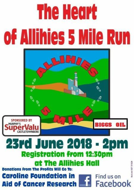 heart of allihies 5 mile road race flyer 2018b
