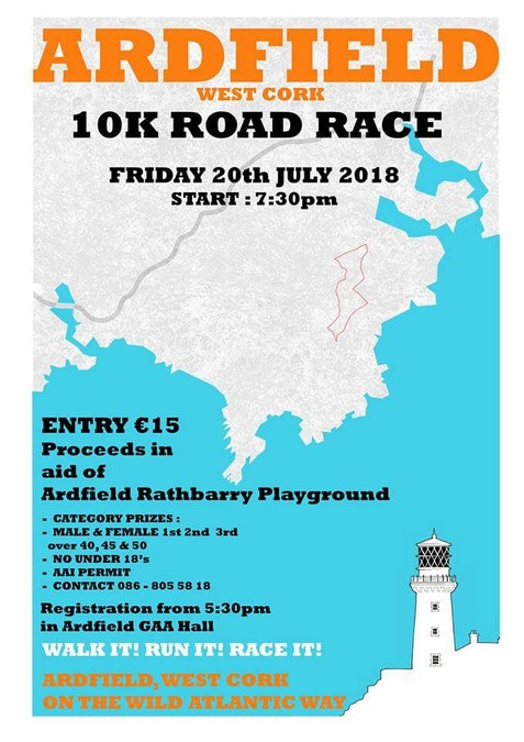 ardfield 10k race flyer 2018
