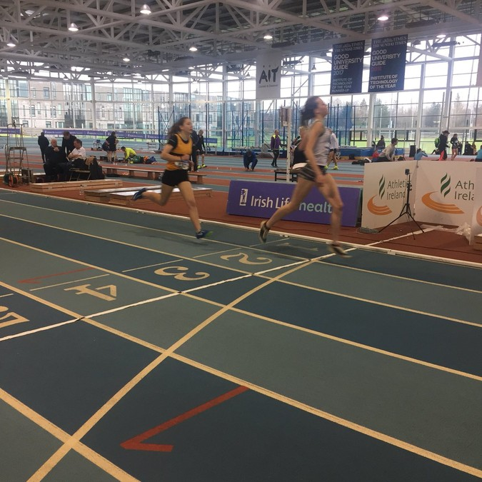 girls under 16 indoor pentathlon championship 2018 800m finiah