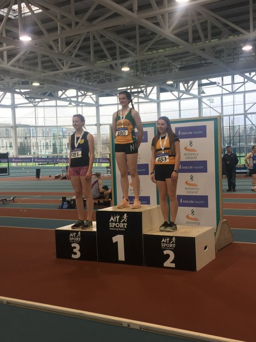 girls under 16 indoor pentathlon championship 2018 emily wall leevale