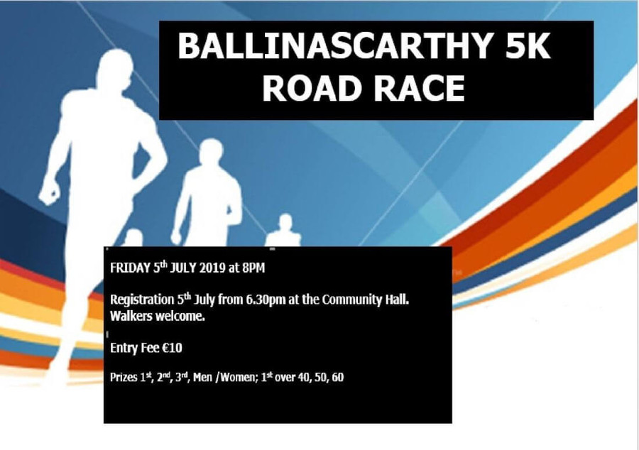 ballinascarthy 5k road race banner 2019