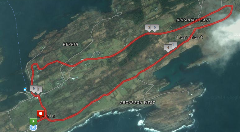 Bere Island 10k Route Map