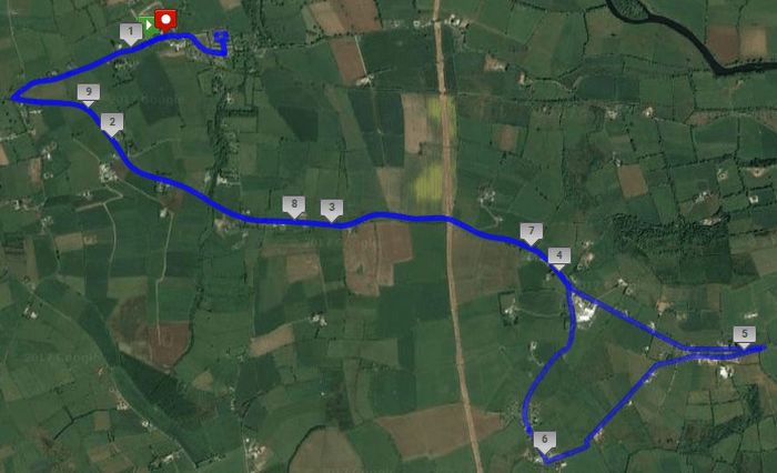 blackwater 10 mile road race 2017 course route map