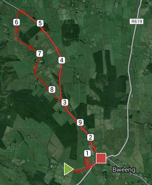 Bweeng 10k Road Race Course Route Map