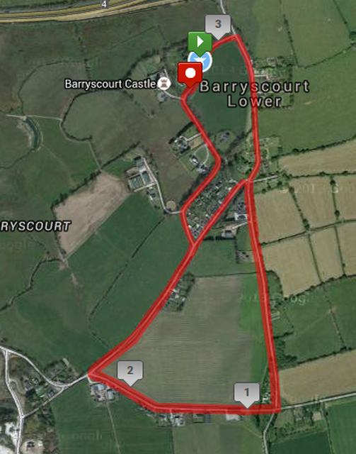 Carrigtwohill 5k Course Route Map