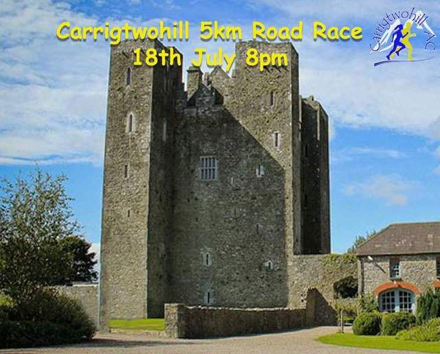 carrigtwohill 5k road race flyer 2018b