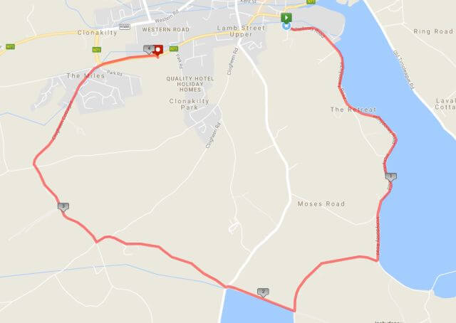 clonakilty 4 mile road race route map 2017
