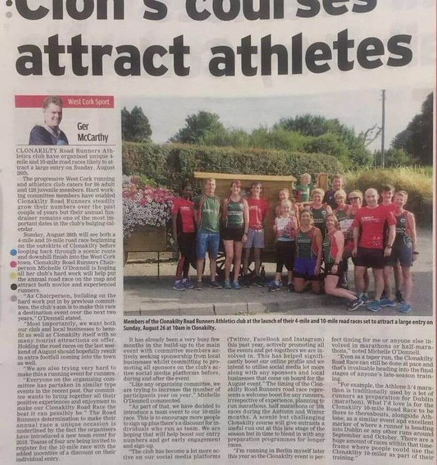 evening echo clonakilty 10 miler july 2018