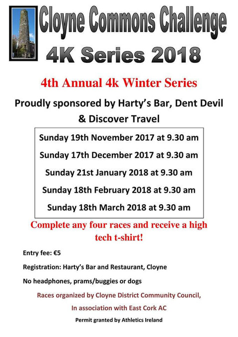 Cloyne Commons 4k Road Race Flyer 2017