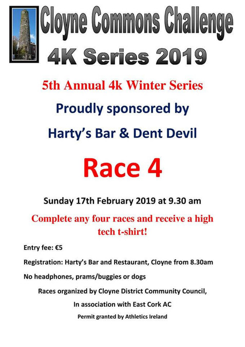 cloyne commons 4k series race 4 february 2019