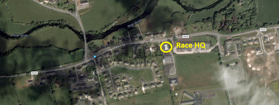 St Catherine's AC Conna 5k Road Race - Race HQ Location
