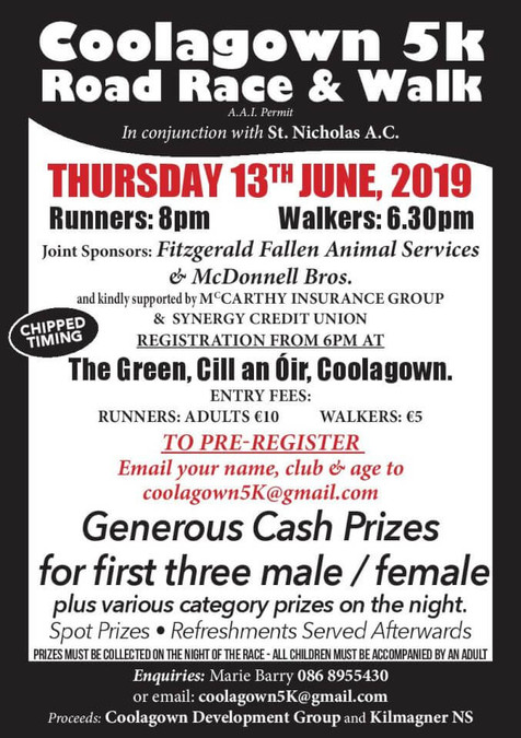 coolagown 5k road race flyer 2019