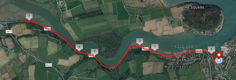 Crosshaven 10k Road Race Course Route Map