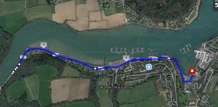 Crosshaven 5k Road Race Course Route Map