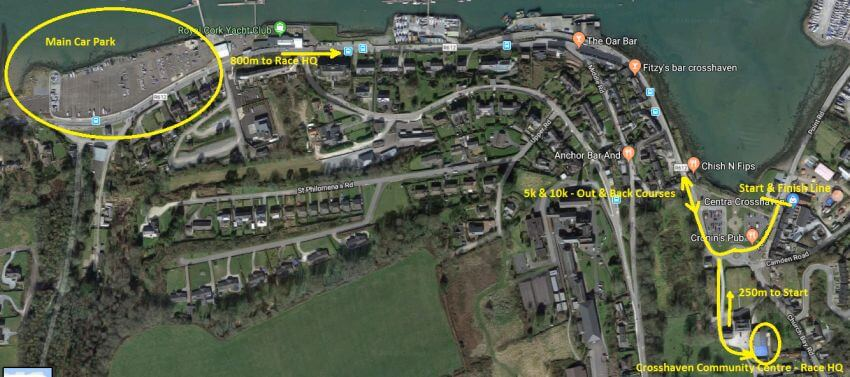 crosshaven 10k key locations