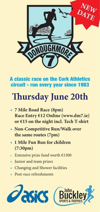 donoughmore 7 mile road race flyer 2019