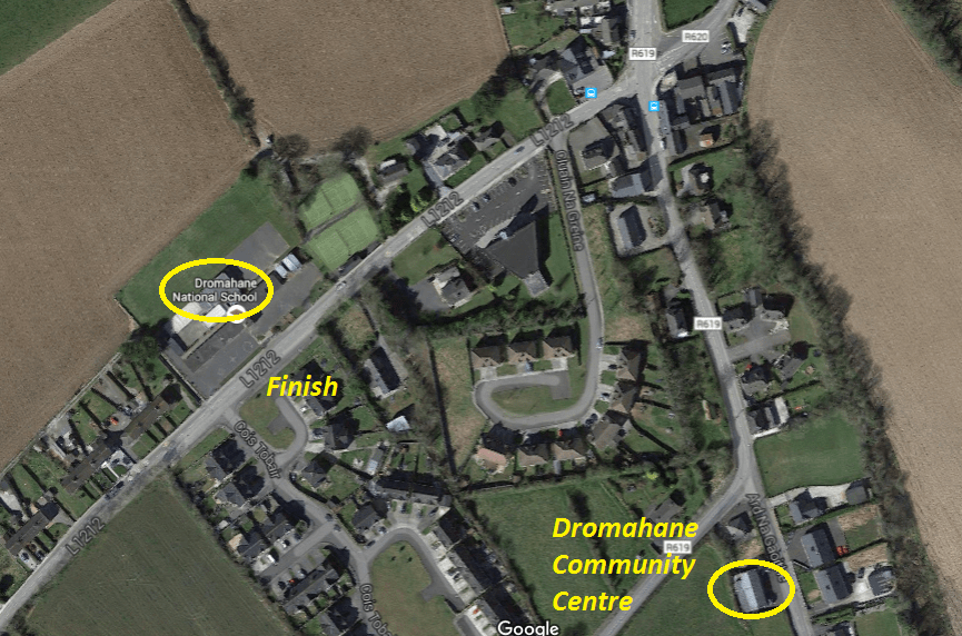 Dromahane 5k Key Locations