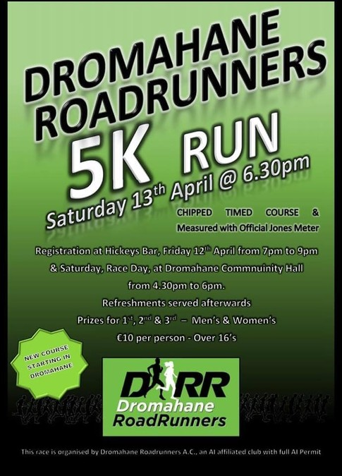 dromahane 5k road race flyer 2019
