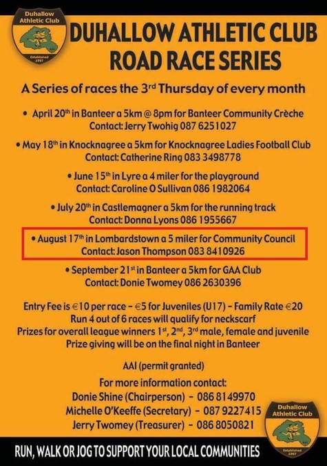 duhallow ac 5k series lombardstown august 2017