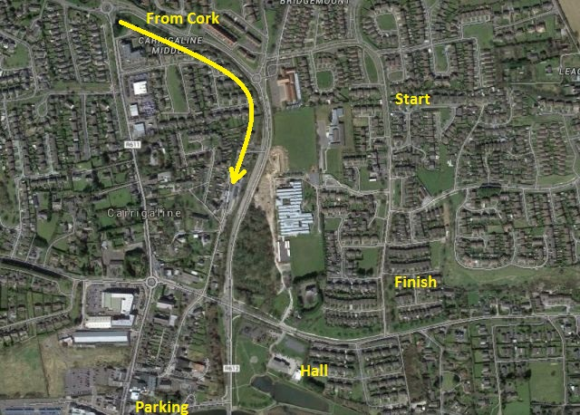 Carrigaline Map