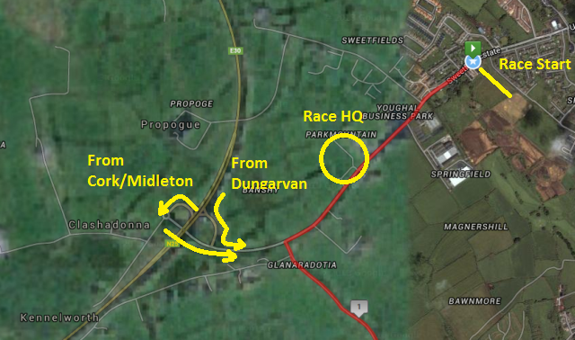 Emer Casey 10k - Youghal - Location Map