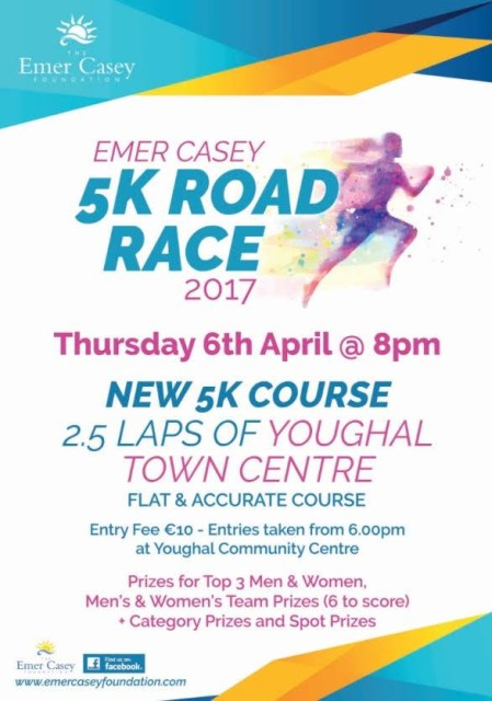 Emer Casey 5k Road Race Flyer 2017